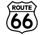 Route 66 vinyl die cut decal - Outline (various sizes)