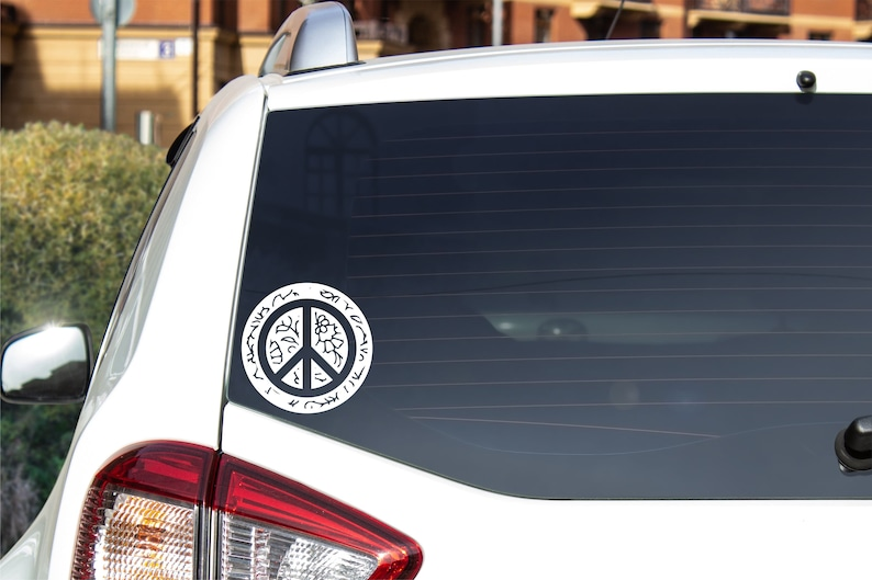 Peace Sign Vinyl Decal  Various colors available image 0