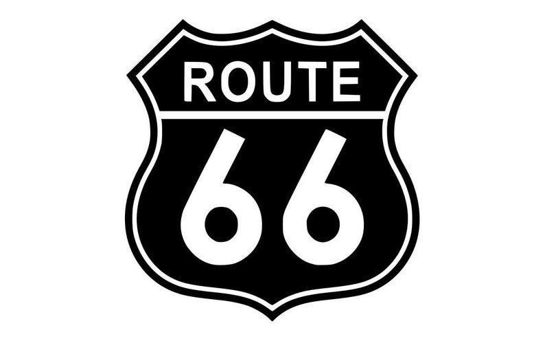 Route 66 vinyl die cut decal  Solid various sizes and image 0