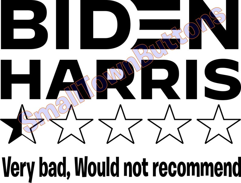 Biden Harris  half star would not recommend Vinyl Decal image 0