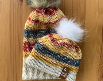 Fall Color Beanie | Classic Knit Beanie | Matching Family Beanies | Infant Hat | Toddler Hat | Adult Hat | Baby Shower Gift | Knitted Beanie