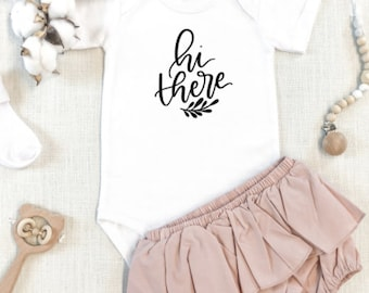 Hi There Onesies®  | Baby Bodysuit | Baby Shower Gift | Baby Onesie | Baby Girl | Baby Announcement Onesie | Going Home Outfit