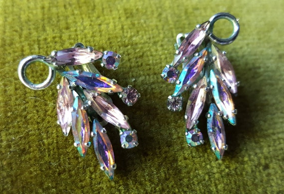 Sherman Clip on Rhinestone Earrings