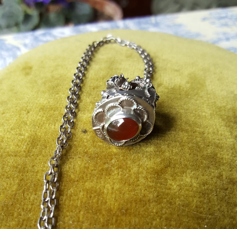 Antique Sterling Silver Pendant and Chain