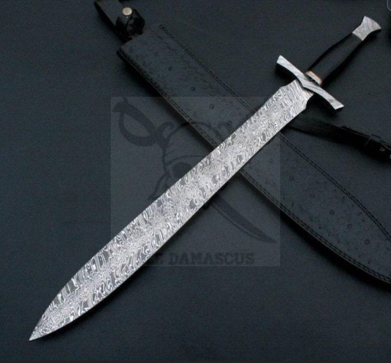 Custom Made Damascus Steel Viking Sword