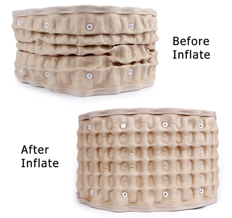 Brace Support Belt Care Physio Decompression Back Relief Waist Lumbar Traction Backache Pain Parent Bone Health Care Tool
