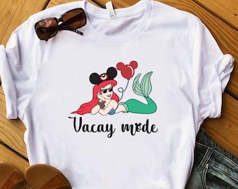 Little Mermaid Princess Crop Top Little Mermaid Shirt Named Shirt Cap Sleeve Princess Shirt Princess Ariel Fringe Crop Top Crop Top