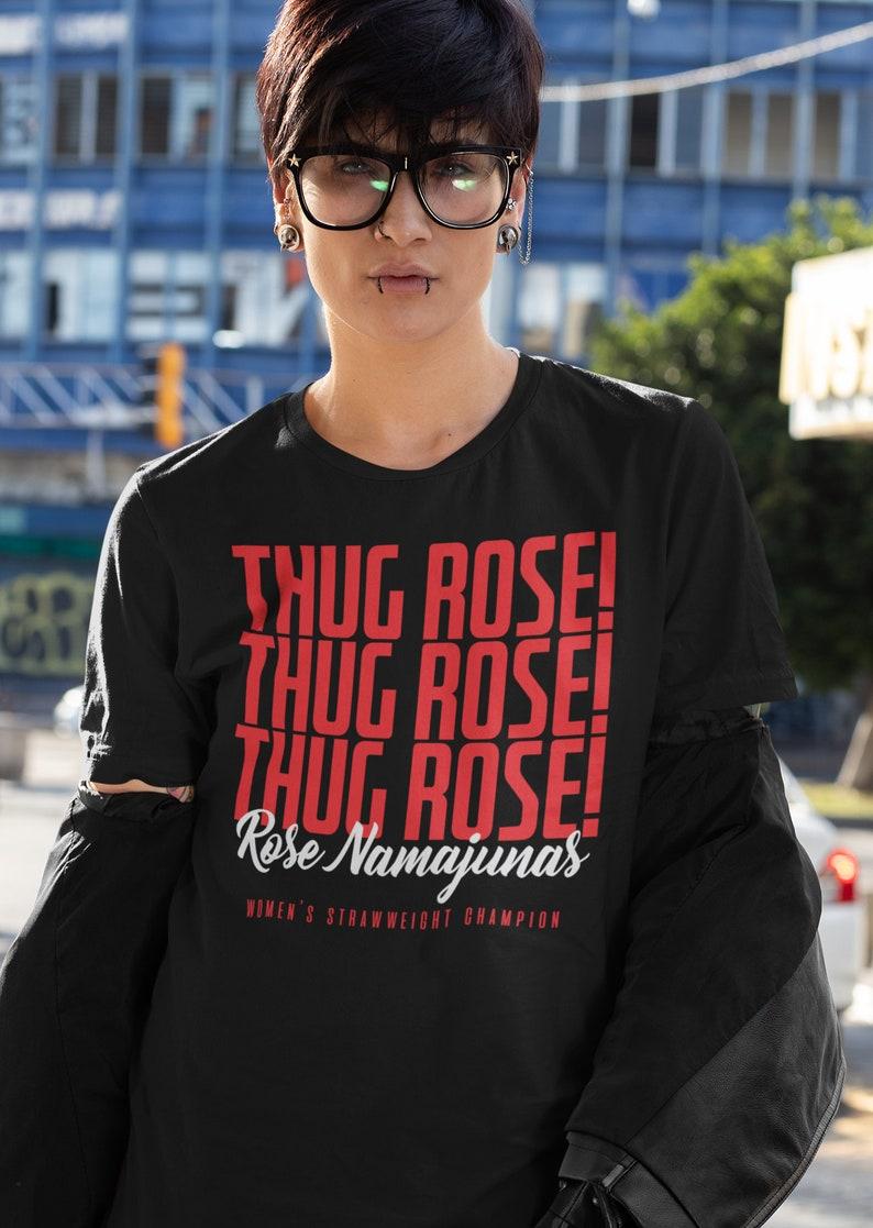 Thug Rose Namajunas WMMA Graphic Fighter Wear Unisex T-Shirt Black