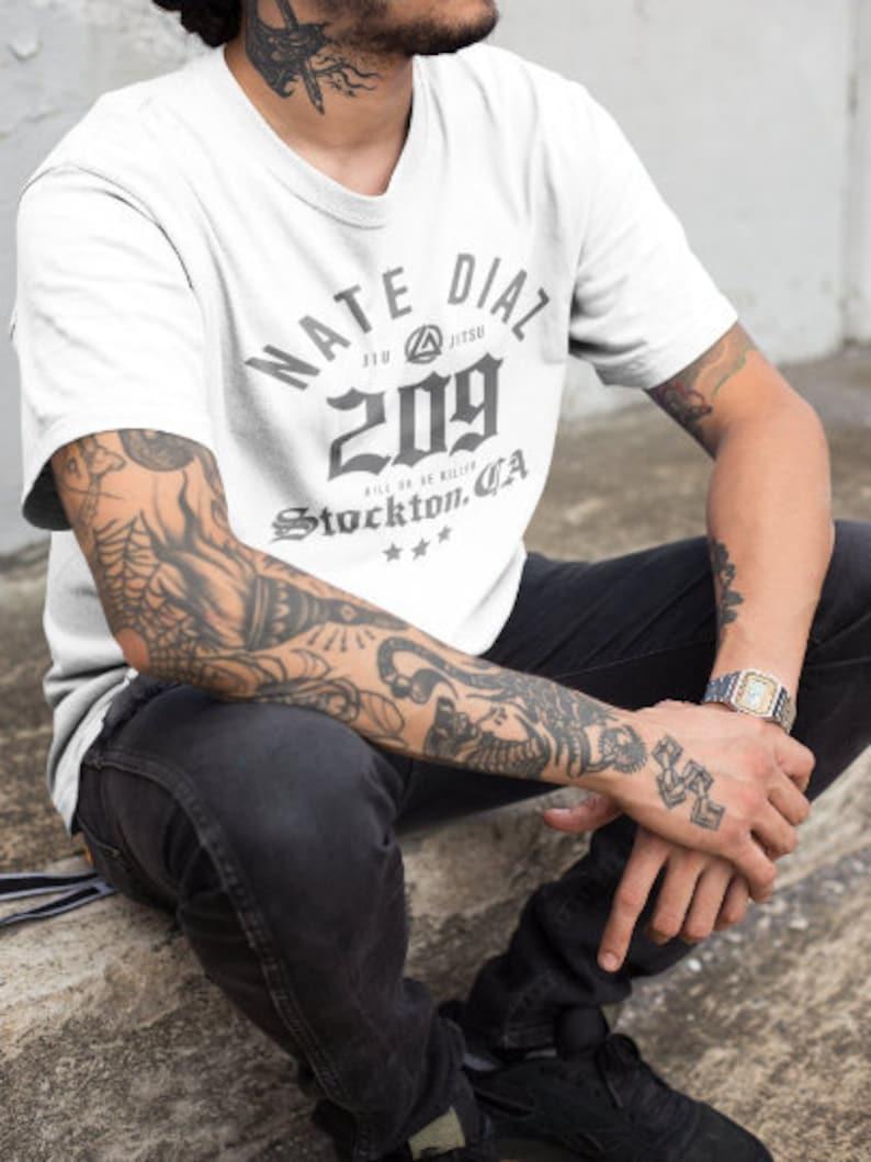 Nate Diaz 209 Jiu Jitsu MMA Fighter Graphic Unisex T-Shirt image 0