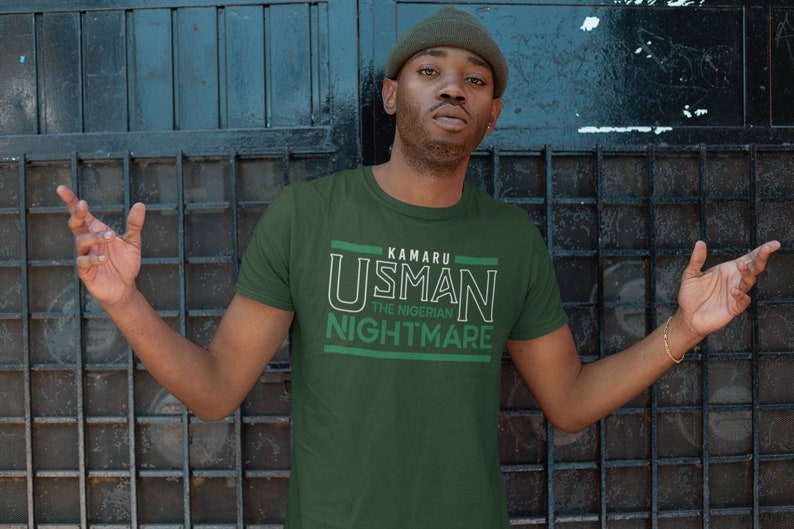 Kamaru Usman The Nigerian Nightmare Graphic Unisex T-Shirt image 0