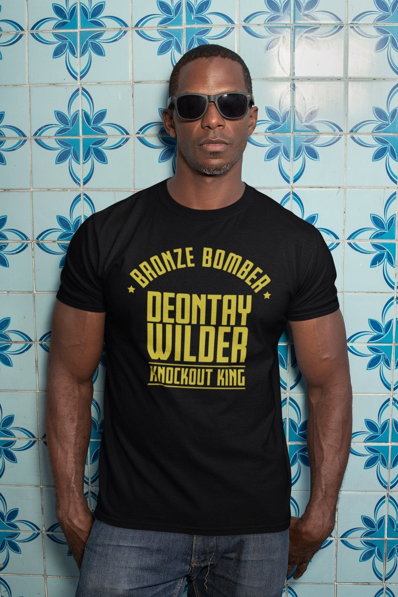Deontay Bronze Bomber Wilder Boxing Fighter Wear Unisex Black