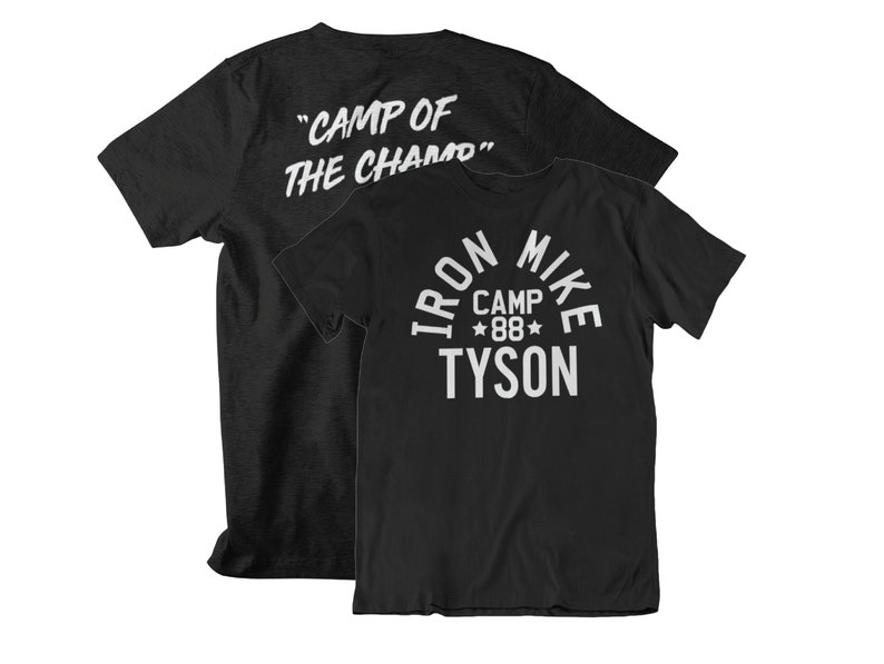 Iron Mike Tyson Camp of the Champ Graphic Unisex T-Shirt Black