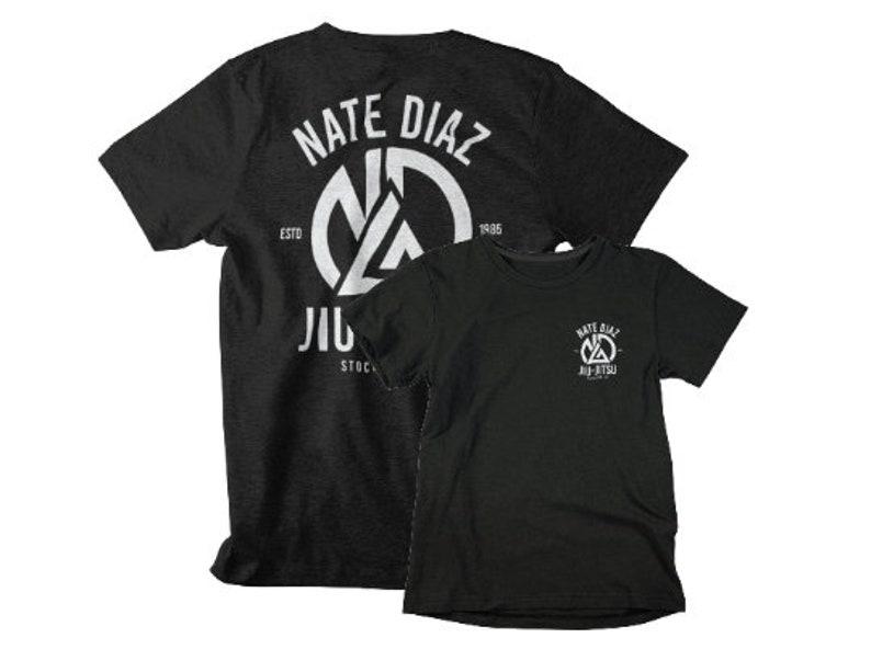 Nate Diaz Jiu Jitsu MMA Fighter Front & Back Graphic Unisex Black