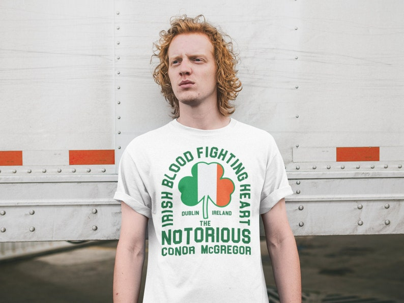 Irish Heart Fighting Heart Conor McGregor Graphic Unisex image 0