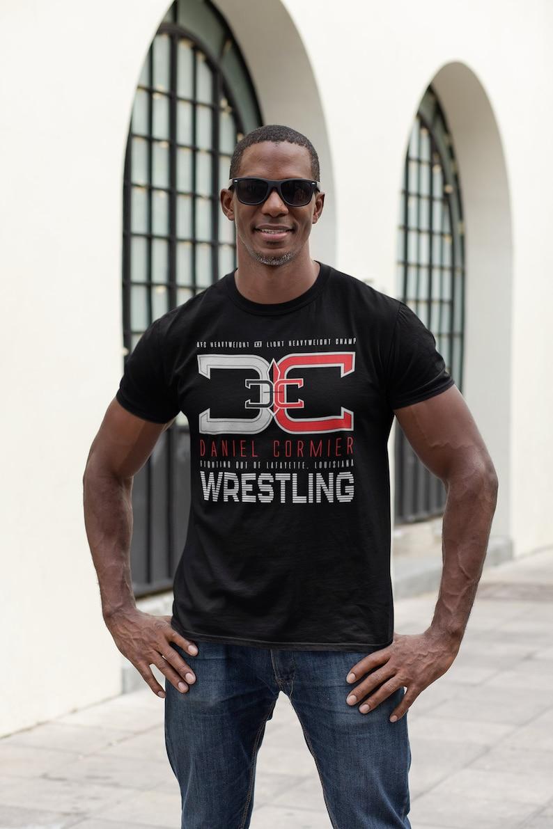 DC Daniel Cormier MMA Fighter Wear Graphic Unisex T-Shirt Black