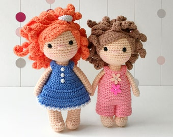 Crochet Doll Blonde curly hair Doll 11 In Stock by HelloSweetKids ... | 270x340
