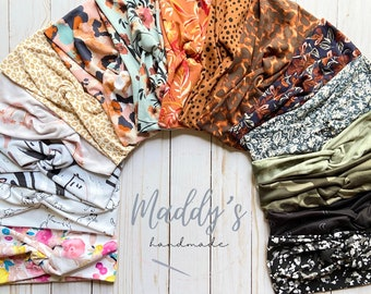 Softest Twisty Turban Headband - Choose your color; patterns, and neutrals