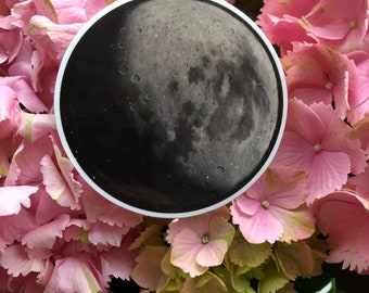 Waxing Gibbous moon Vinyl sticker