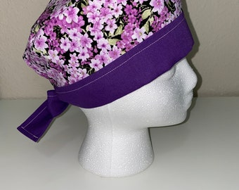 Reversible Floral Scrub Cap