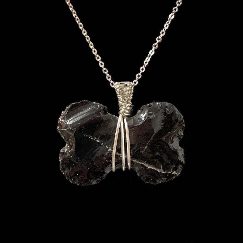 Obsidian Bone Pendant