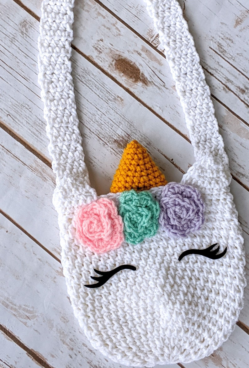 White Unicorn Purse Girl Purse Toddler Girl Purse Girl image 0
