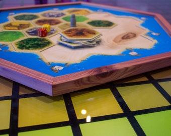 Wooden Catan Board Tray - Handcrafted Cedar/Maple/Birch