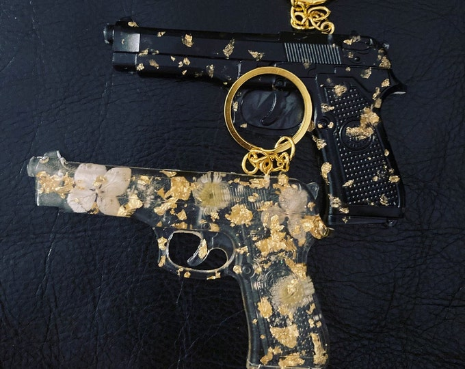 Aesthetic Gun-Shaped Keychains