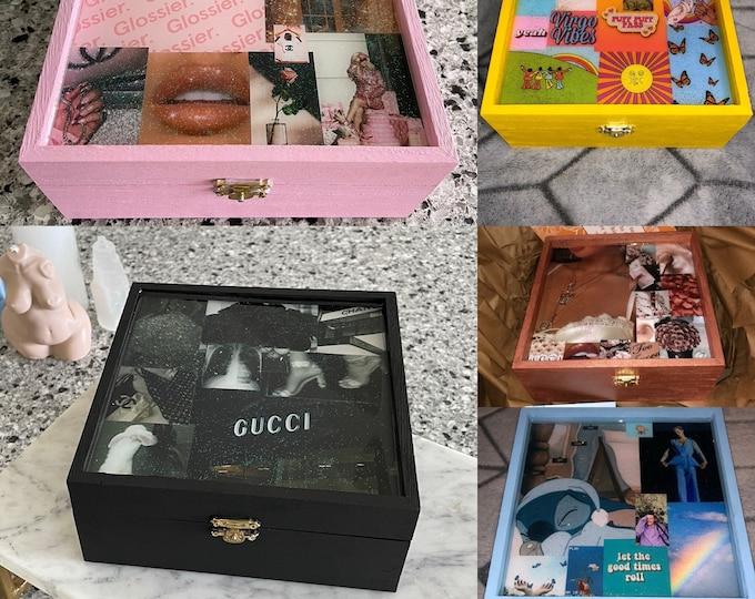 Customizable Aesthetic Keepsake Boxes/Stash Boxes/Memory Boxes/Jewelry Boxes!
