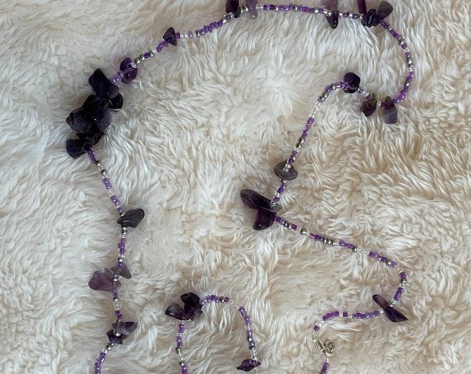 Amethyst Crystal Waist Beads