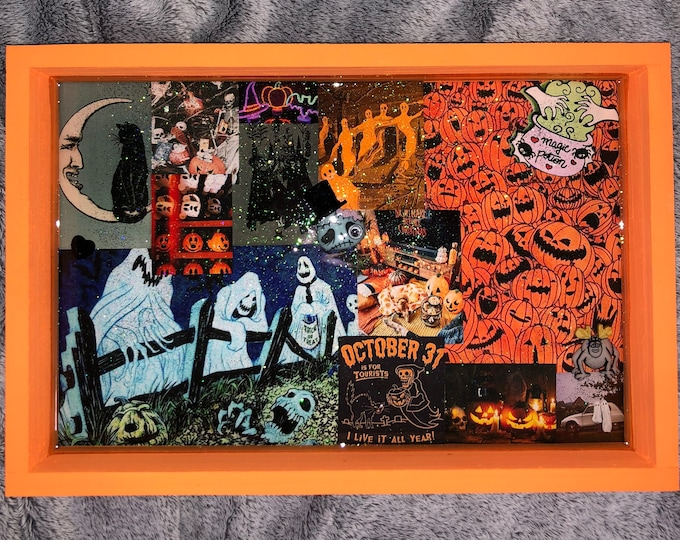 Halloween Tray With Mini 3D Monsters!