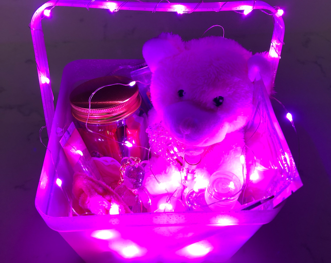 Gift Set w/ Pink LED Lights! (21 items included!)