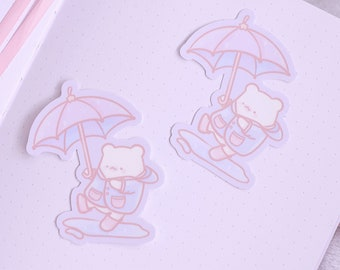 Rainy Days Vinyl Sticker