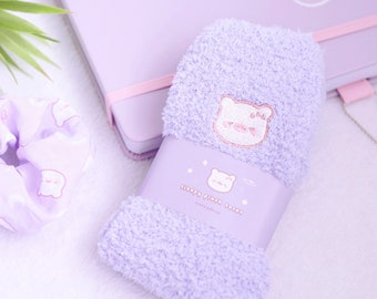 Sleepy Mochi Plush Socks