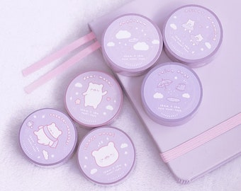 WASHI TAPE   Sleepy Collection   Kawaii Stationery   Cute Washi Tape   Bullet Journal   Planner Stationery   Deco Tape