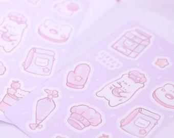 Sweet Dreams Bakery Vinyl Sticker Sheet