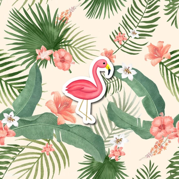 Flamingo Sticker | Die-Cut Window, Water bottle, Skateboard, Car, Wall Decal, Laptop Vinyl Sticker - 3""