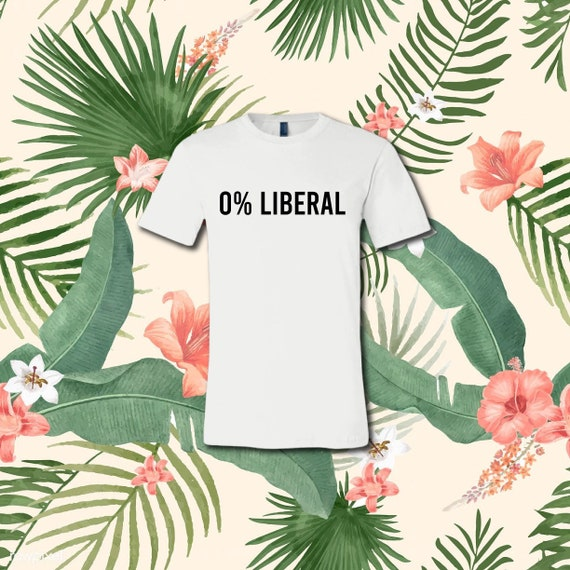 0% Liberal  | Casual T-Shirt