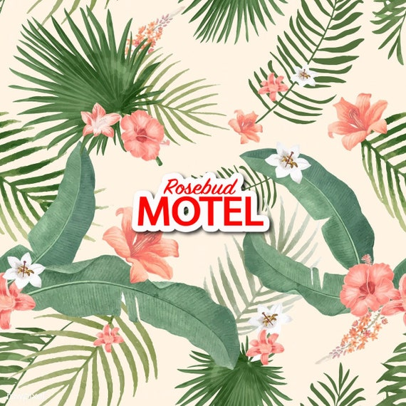Rosebud Motel Sticker  | Die-Cut Window, Water bottle, Skateboard, Car, Wall Decal, Laptop Vinyl Sticker - 3""