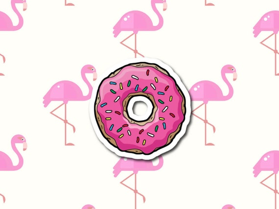 "Simpson's Doughnut | Die-Cut Window, Water bottle, Skateboard, Car, Wall Decal, Laptop Vinyl Sticker - 3"", 5"" or 7"""