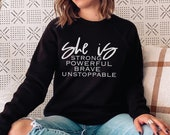 She Is Strong SVG, Powerful Brave Unstoppable svg, Be Kind svg, Be Strong svg, Be Brave svg, Mom svg, teen girl svg, Cricut Cut File