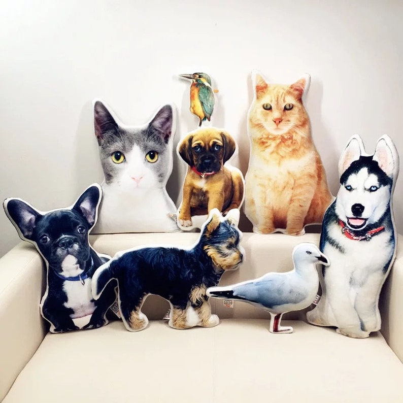 Special-shaped pet pillow custom to map photos custom DIY cat image 0