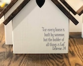Personalized birdhouse table topper farmhouse look