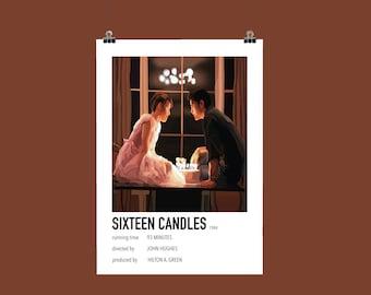 Sixteen Candles Illustration Polaroid Style Film Poster