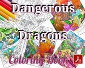 Dangerous Dragons Coloring Book - 30 Gorgeous Pages