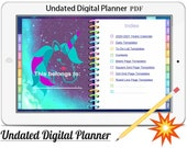 Digital Planner Vol.9 -2020/21,Undated Digital Planner, Goodnotes Planner,Undated Daily Weekly ,Digital Journal,Goodnotes Template