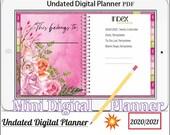 Mini Digital Planner Vol.5 -Digital Planner 2020 2021, PPT, PDF, interactive Keynote for Mac and PC