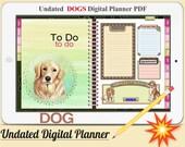 DOGS Digital Planner Vol.1 - Undated Digital Planner Goodnotes Planner, Undated Daily Weekly Digital Journal,Goodnotes Template, Hyperlinked