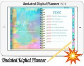 Digital Planner Vol.2 -2020/21,Undated Digital Planner Goodnotes Planner,Undated Daily Weekly Digital Journal,Goodnotes Template,Hyperlinked