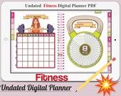 Fitness Digital Planner Vol.1 -Undated Digital Planner Goodnotes Planner,Undated Daily Weekly Digital Journal,Goodnotes Template,Hyperlinked