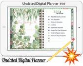 Digital Planner Vol.6 -2020/21,Undated Digital Planner Goodnotes Planner,Undated Daily Weekly Digital Journal,Goodnotes Template,Hyperlinked